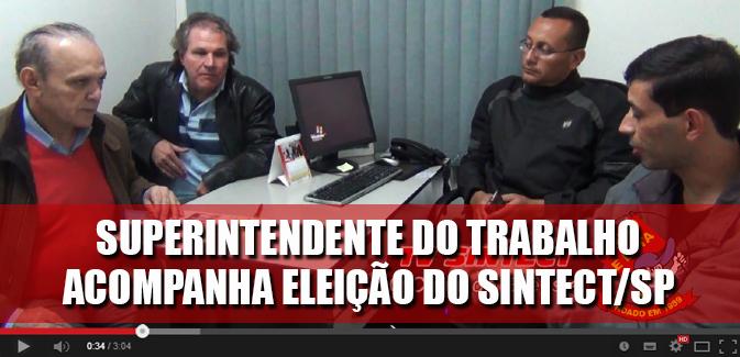 Destaque_Superintendente do Trabalho Medeiros visita sede do Sintect-SP